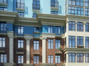 Декоративные элементы в оформлении фасада ЖК Лайково